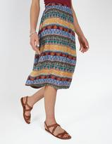 Fat Face Collier Tribal Geo Midi Skirt