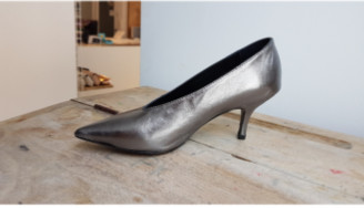 Mads Norgaard Size 41 Silver Leather Alaine Pump - 41 | leather | silver - Silver/Silver