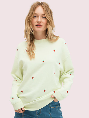 Kate Spade Embroidered Berry Sweatshirt