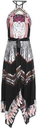Temperley London Talia Embellished Crepe Halterneck Midi Dress