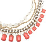 LOFT Short Pink Casted Stone Necklace