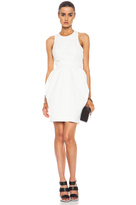 McQ Alexander McQueen Round Neck Cotton-Blend Party Dress