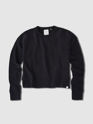 Jason Scott Drop Shoulder Crew - Black