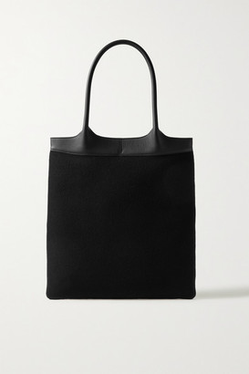 Gabriela Hearst Leather-trimmed Cashmere Tote - Black