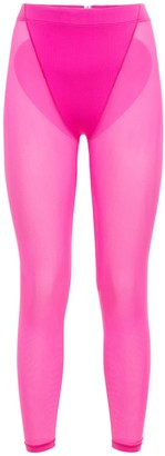 Adam Selman Sport Sheer Heart Leggings