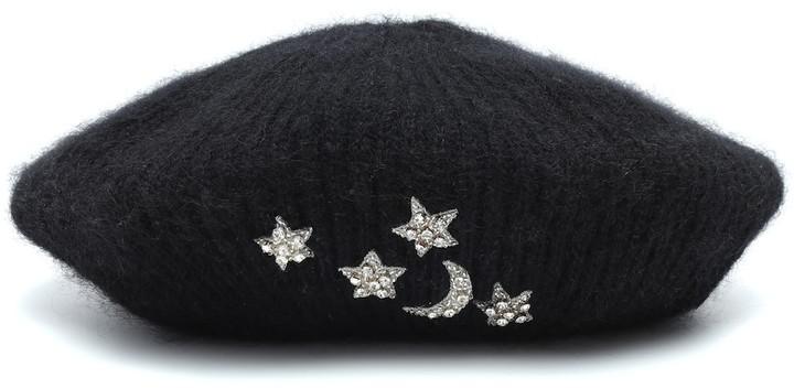 Jennifer Behr Exclusive to Mytheresa Embellished mohair beret