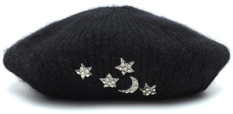 Jennifer Behr Exclusive to Mytheresa Embellished mohair beret