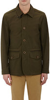 Fay Men's Tech-Fabric Field Jacket-DARK GREEN