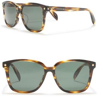 Alexander McQueen 54mm Acore Square Sunglasses