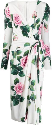 Dolce & Gabbana floral print wrap dress