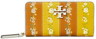 Tory Burch McGraw Floral Zip Continental Wallet