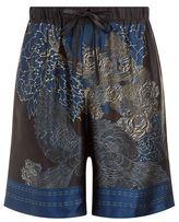 Meng Eagle Silk Pyjama Shorts