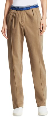 Rosie Assoulin Rolled-Up Stretch Cotton Pants