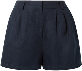 Frame Pleated Canvas Shorts