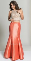 Dave and Johnny Illusion Back Two Piece Prom Dress