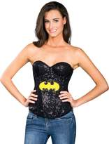 Rubie's Costume Co Costume Secret Wishes DC Comics Justice League Superhero Style Adult Corset Top with Logo Sequined Supergirl