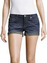 Vigoss Cotton-Blend Whiskered Denim Shorts