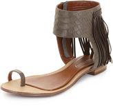 Shoes, Baste Fringe Flat Sandals