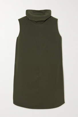 Co Crepe Turtleneck Top - Dark green