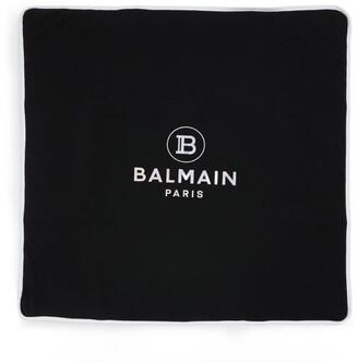Balmain Kids Metallic Logo Blanket
