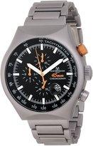 Montres de Luxe Men's 45 MM TP SILVER Chronograph Tachymeter Watch