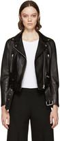 Black Mock Biker Jacket