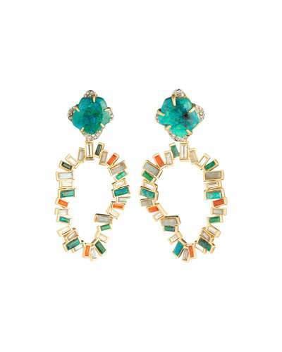 Alexis Bittar Dancing Baguette Clip-On Earrings
