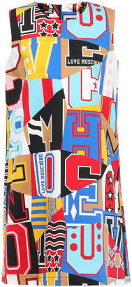 Love Moschino Printed Cotton-blend Twill Mini Dress