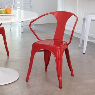 Brayden Studio Blaney Office Stackable Chair Finish: Red, Quantity: Set of 4