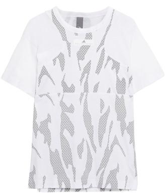 adidas by Stella McCartney Printed Cotton-blend Jersey T-shirt