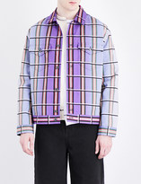 J.W.Anderson Elbow-patches checked denim jacket