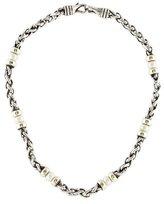 David Yurman Pearl Two Tone Chain Necklace