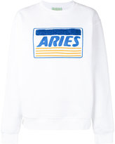 Aries 'Aries' embroidery sweatshirt - women - Cotton/Polyester - 2
