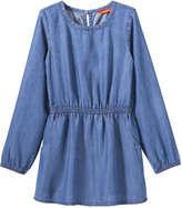 Joe Fresh Kid Girls' Open Back Denim Dress, Medium Wash (Size XL)