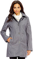Anne Klein Turn-Key Removable Hood Rain Coat