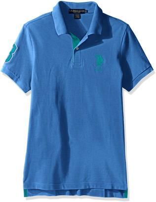 U.S. Polo Assn. Men's Short Sleeve Solid Slim Fit Pique Polo Shirt