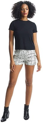 Commando Faux Leather Animal Jet Set Shorts SLG40 (White Snake) Women's Shorts