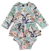 Molo Infant Girl's Frances Floral Print Skirted Bodysuit