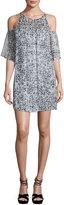 Ella Moss Carlotta Metallic Leopard-Print Dress