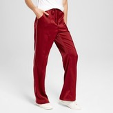 Mossimo Women's Flare Woven Track Pants Dark Red