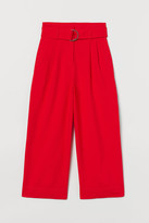 H&M Wide Belted Pants - Red