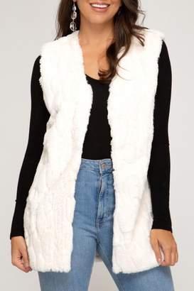 She+Sky Faux Fur Vest