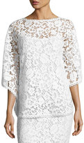 Escada Lace Poncho Top with Camisole