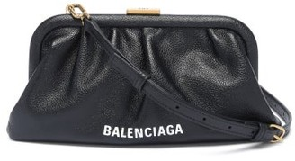 Balenciaga Cloud Xs Leather Cross-body Bag - Black