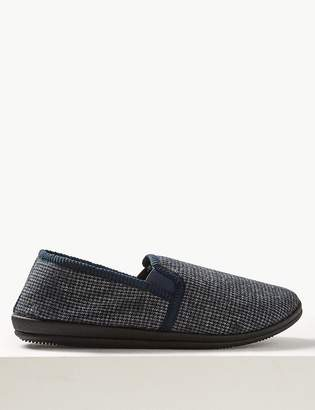 Marks and Spencer Checked Slippers with Thinsulate