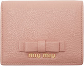 Miu Miu Pink Leather Bow Wallet