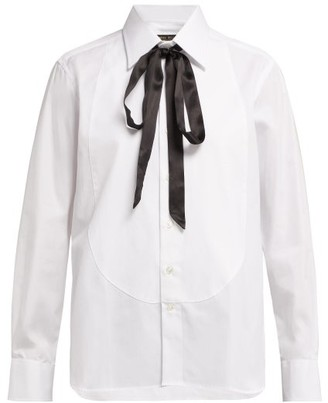 Emma Willis Slim-fit Cotton Shirt - White