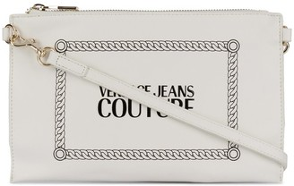 Versace logo print clutch