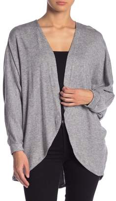 Blu Pepper Open Front Back Button Cardigan