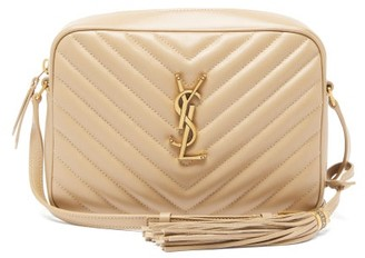 Saint Laurent Lou Medium Quilted-leather Cross-body Bag - Womens - Beige